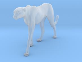 Cheetah 1:20 Walking Female 4 in Smooth Fine Detail Plastic