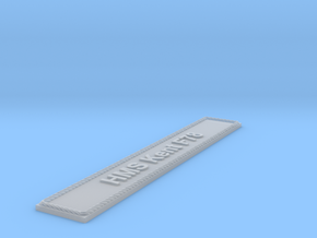 Nameplate HMS Kent F78 in Smoothest Fine Detail Plastic