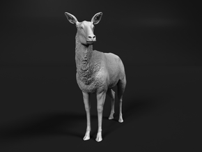 Waterbuck 1:45 Standing Female in Smooth Fine Detail Plastic