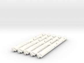Adapters: Multiple Parker G2 to D1 Mini (x5) in White Processed Versatile Plastic
