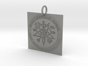 Creator Pendant in Gray PA12: Extra Small