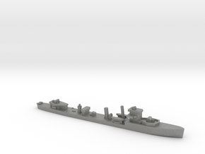 HMS Vega 1:3000 r2 WW2 naval destroyer in Gray PA12