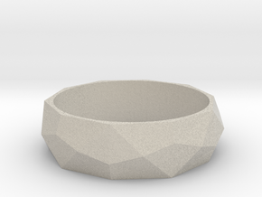 Ring with beautiful poly pattern for man and women in Natural Sandstone: 6.5 / 52.75