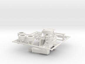 1/50th Moffett type Piggyback forklift for flatbed in White Natural Versatile Plastic