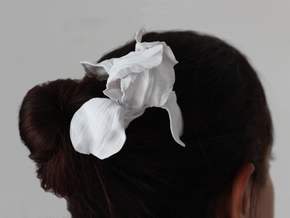 Iris Hair Pick in White Natural Versatile Plastic