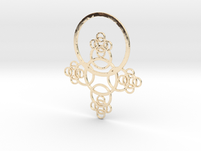 Phi Pendant in 14k Gold Plated Brass