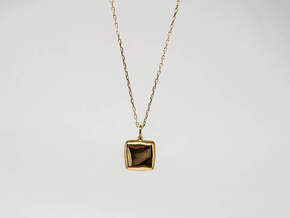 Square Cleo Pendant  in 18k Gold Plated Brass