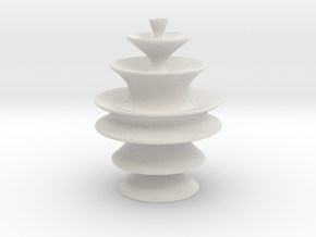 Vase T021 Redux in Matte Full Color Sandstone