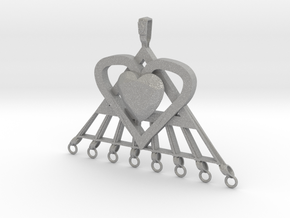 Extra large Pi Heart for arts and crafts in Aluminum: Extra Large