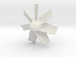 Impeller_Sub uss verginia in White Natural Versatile Plastic