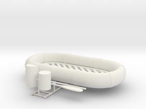 1/29 USN Life Raft Oval SET in White Natural Versatile Plastic