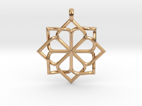 8p Star Pendant in Polished Bronze
