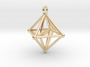 Hyperoctahedron Pendant in 14k Gold Plated Brass