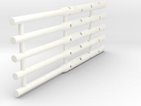 Adapters: Multiple Generic To D1 Mini (x5) in White Processed Versatile Plastic