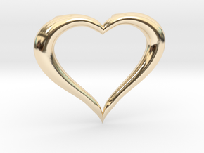 Love Heart Necklace in 14K Yellow Gold