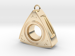 Mazda Rotary Engine Rotor Earring in 14K Yellow Gold