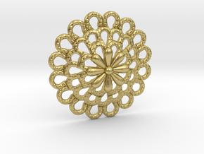 Bottone_Scanno in Natural Brass: Small