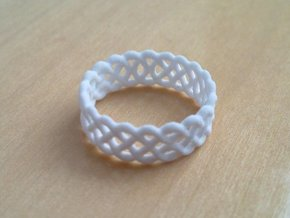 Celtic Ring - 23.5mm ⌀ in White Natural Versatile Plastic