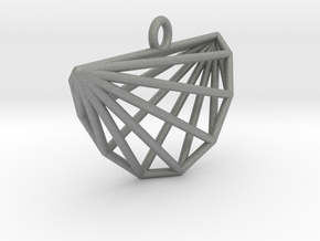 Intricate Cyclic Polytope Pendant in Gray PA12