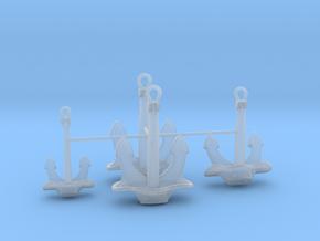 1/128 DKM Bismarck Anchor Set in Smooth Fine Detail Plastic