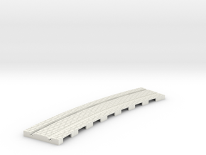 p-165stw-curved-1r-tram-track in White Natural Versatile Plastic