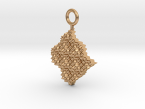 cosine x cosine ripple waves earring in Natural Bronze
