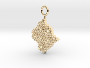 cosine x cosine ripple waves earring in 14k Gold Plated Brass