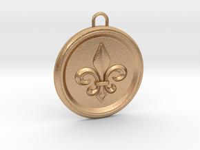 Pendant Fleur-De Lis in Natural Bronze