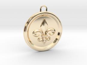Pendant Fleur-De Lis in 14k Gold Plated Brass