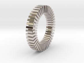 Patrick Tetragon - Ring in Rhodium Plated Brass: 5 / 49