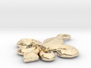 Fleur-De-Lis in 14k Gold Plated Brass