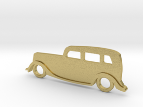 Classic Car Necklace-54 in Natural Brass