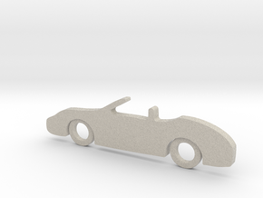 Classic Car Necklace-56 in Natural Sandstone