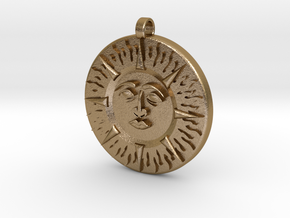 Sun&Moon in Polished Gold Steel