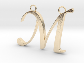 Letter M in 14K Yellow Gold