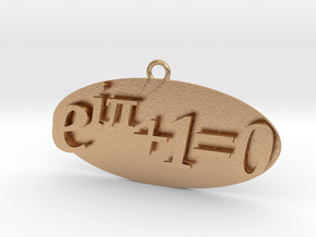 Euler identity Equation earring or pendant  in Natural Bronze
