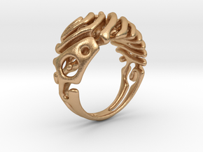 """Ring """"Wave"""" in Natural Bronze"""