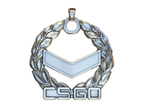 CS:GO Silver 1 Pendant in Polished Silver