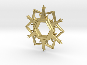 Alpha-Omega Snowflake in Natural Brass