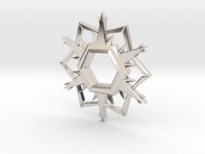 Alpha-Omega Snowflake in Platinum