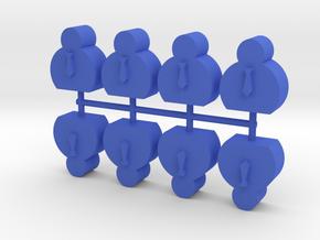 Custom Order, CEO, Large, 8-set in Blue Processed Versatile Plastic