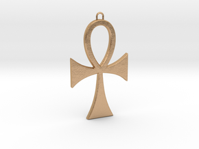 Ankh-5 in Natural Bronze