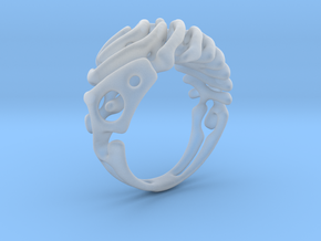 "Ring ""Wave"" in Smooth Fine Detail Plastic"