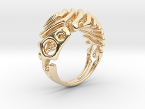 """Ring """"Wave"""" in 14k Gold Plated Brass"""