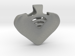 """""""Be my heart"""" Pendant in Gray Professional Plastic"""