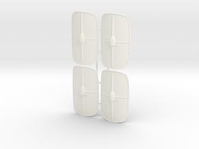 ROMAN SCUTUM 4 X4 in White Processed Versatile Plastic