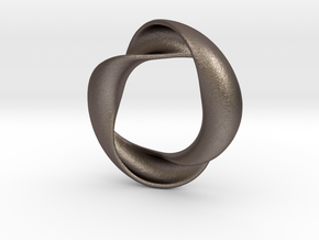 Mobius XIV in Polished Bronzed Silver Steel