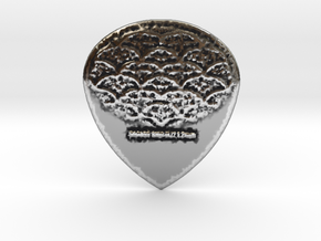 Dragon Skin Jazz 1.2mm Raw Pick in Antique Silver