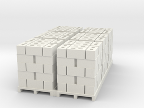 Pallet Of Cinder Blocks Hollow 5 High 6 Pack 1-87  in White Natural Versatile Plastic