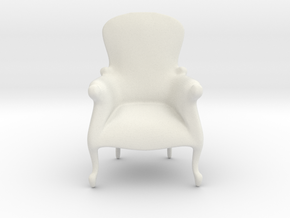 Printle Thing Armchair 10 - 1/24 in White Natural Versatile Plastic